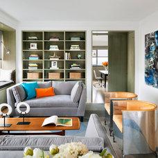 Contemporary Family Room by PAULA+MARTHA, LLC