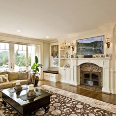 Traditional Family Room by James Traynor Custom Homes