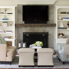 Traditional Family Room by Susan Glick Interiors