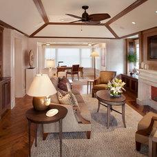 Beach Style Family Room by Bruce Palmer Coastal Design