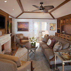 contemporary family room by Bruce Palmer Interior Design