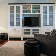Beach Style Family Room by The Spotted Frog Designs