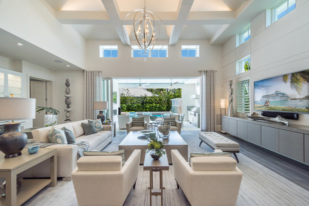 Beach Style Family Room by London Bay Homes