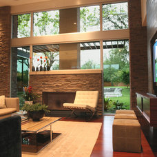 Contemporary Family Room by Domiteaux + Baggett Architects, PLLC