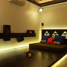 Contemporary Family Room by Mitesh Antala