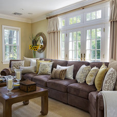 Eclectic Family Room by B Fein Interiors LLC