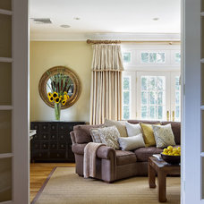 Traditional Family Room by B Fein Interiors LLC
