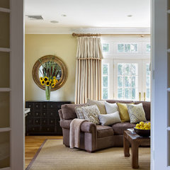eclectic family room by B Fein Interior Design