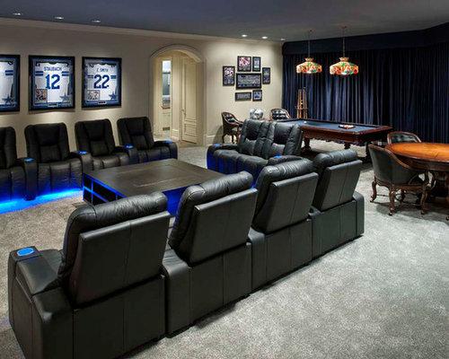 8 dallas cowboys home theater design photos - Home Theater Design Dallas