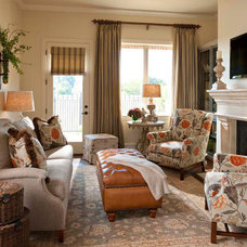 Beach Style Family Room by Wesley-Wayne Interiors, LLC