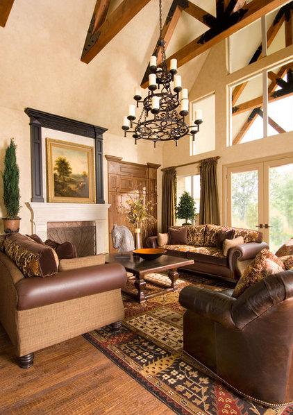 Mediterranean Family Room by Wesley-Wayne Interiors, LLC