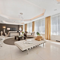 Contemporary Family Room by Interior Marketing Group