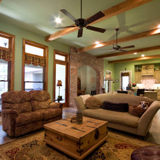 Traditional Family Room by Custom Home Designs