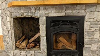 West Jefferson | Rustic Fireplace | Stonework | Cabin | Log Home