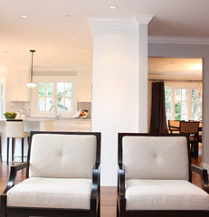contemporary family room by Sarah Gallop Design Inc.