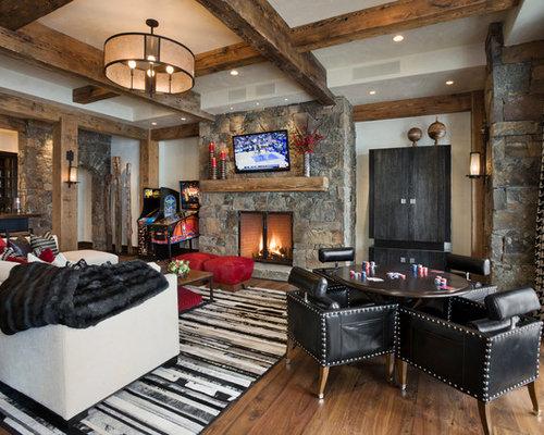 gaming zimmer ideen bilder houzz. Black Bedroom Furniture Sets. Home Design Ideas