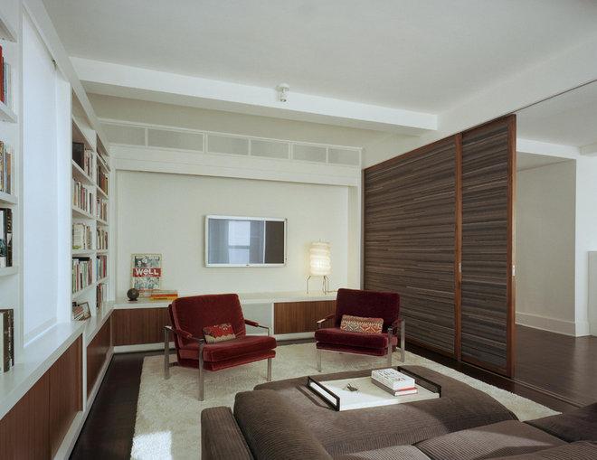 Contemporary Family Room by Ondine Karady Design