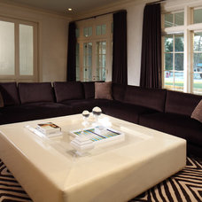 Contemporary Family Room by michelle gerson interiors