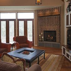 Eclectic Family Room by HBF plus Design