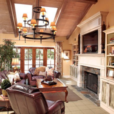 Eclectic Family Room by JAG Interiors, Inc.