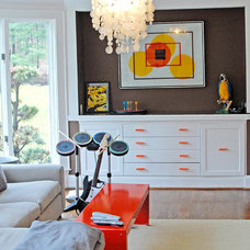Eclectic Family Room Weston Retreat