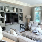 White Entertainment Wall Unit Traditional Family Room Miami By D And J Furnitures