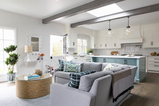 Transitional Family Room by Paige Pierce Design