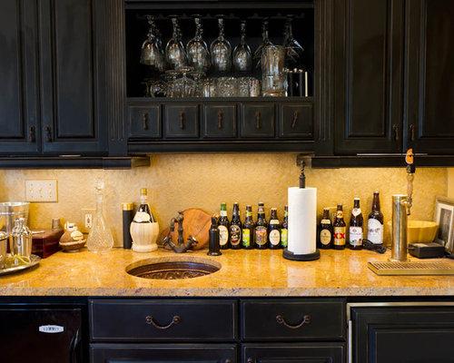 Kitchen Island Kegerator sink and kegerator | houzz