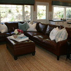 Beach Style Family Room by Brooke Wagner Design