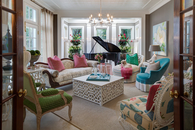 Traditional Family Room by W Design Interiors