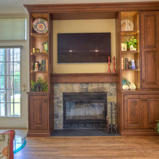 Traditional Family Room by JACK ROSEN CUSTOM KITCHENS