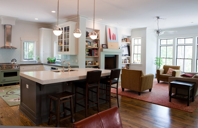 Contemporary Family Room by B + O design studio, pllc
