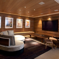Contemporary Home Theater by Connected Spaces