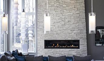 White Birch Fireplace