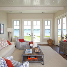 Beach Style Family Room by Francesca Owings Interior Design