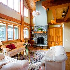 Contemporary Family Room by Bonin Architects &  Associates