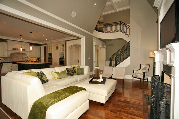 Contemporary Family Room by Foremost Construction Inc