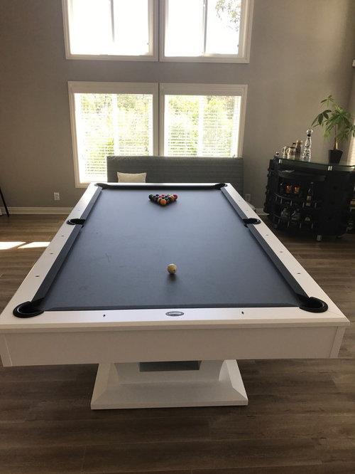 White Olhausen Bellagio Pool Table - Bellagio pool table