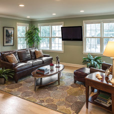 Transitional Family Room by S.J. Janis Company, Inc.