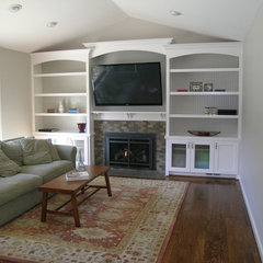 traditional living room by May Construction, Inc.