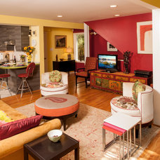 Eclectic Family Room by Steven Paul Whitsitt Photography