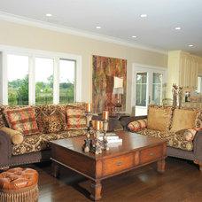 Eclectic Family Room by Michael Menn Ltd.