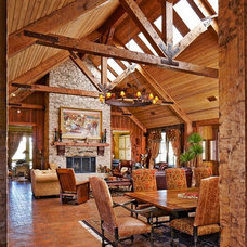 Rustic Family Room by USI Design & Remodeling
