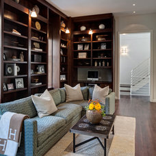 Traditional Family Room by Buckingham Interiors + Design LLC