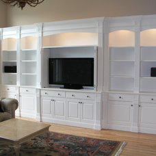 Traditional Family Room by Tony O'Malley Custom Woodworking