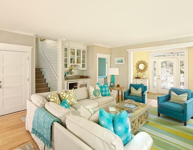 Beach Style Family Room by Renaissance South Construction Co.