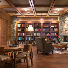Rustic Family Room by Gregory Carmichael