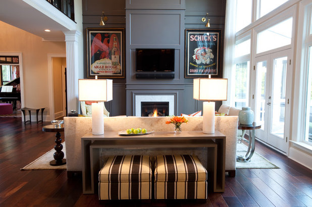 Traditional Family Room by Emerald Hill Interiors