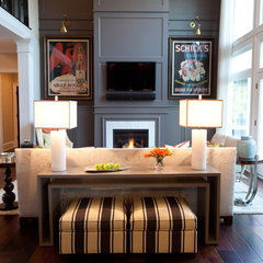 traditional family room by Amanda Austin Interiors