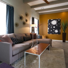 Contemporary Family Room by AB Design Elements, LLC